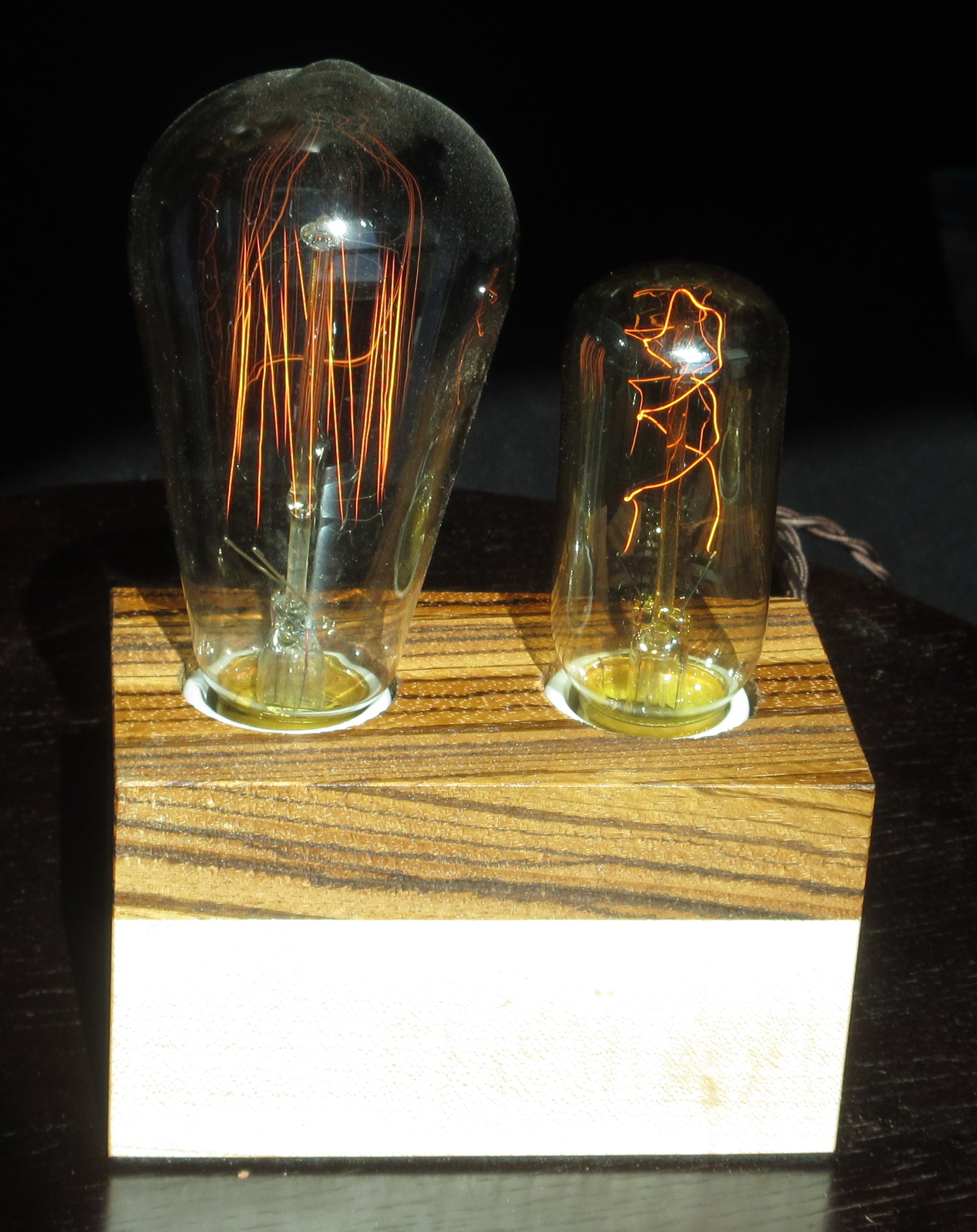 Zebrawood and Maple - 2 lamps