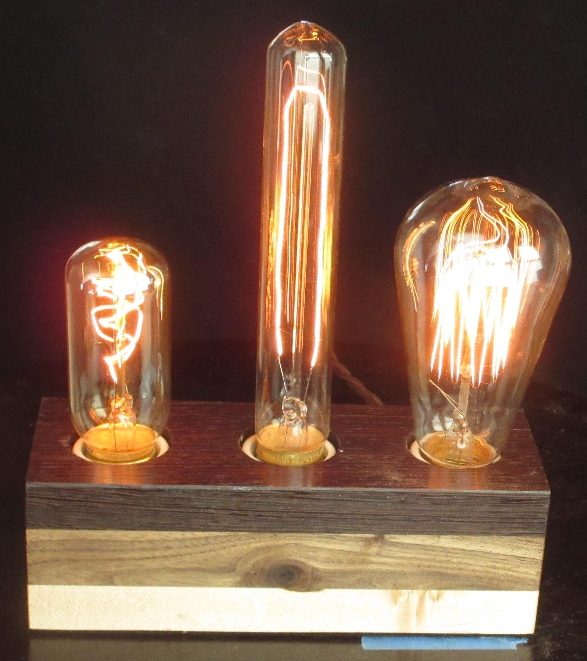 Wenge, Walnut, & Maple - 3 lamps