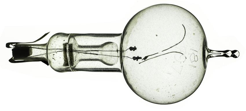 Original carbon-filament bulb from Thomas Edison.