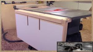 This may be something I can build in the coming months and would fit on my equipment and in my shop: a retractable or folding table extension for the table saw.