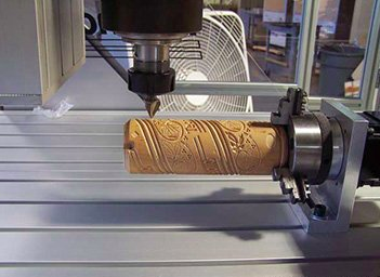 A CNC lathe, converted from a traditional 3-axis XYZ CNC.
