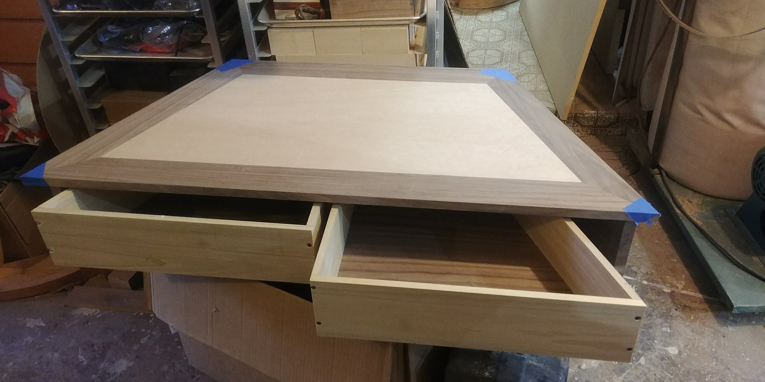 ... and now the second drawer (both with veneered lauan drawer bottoms)