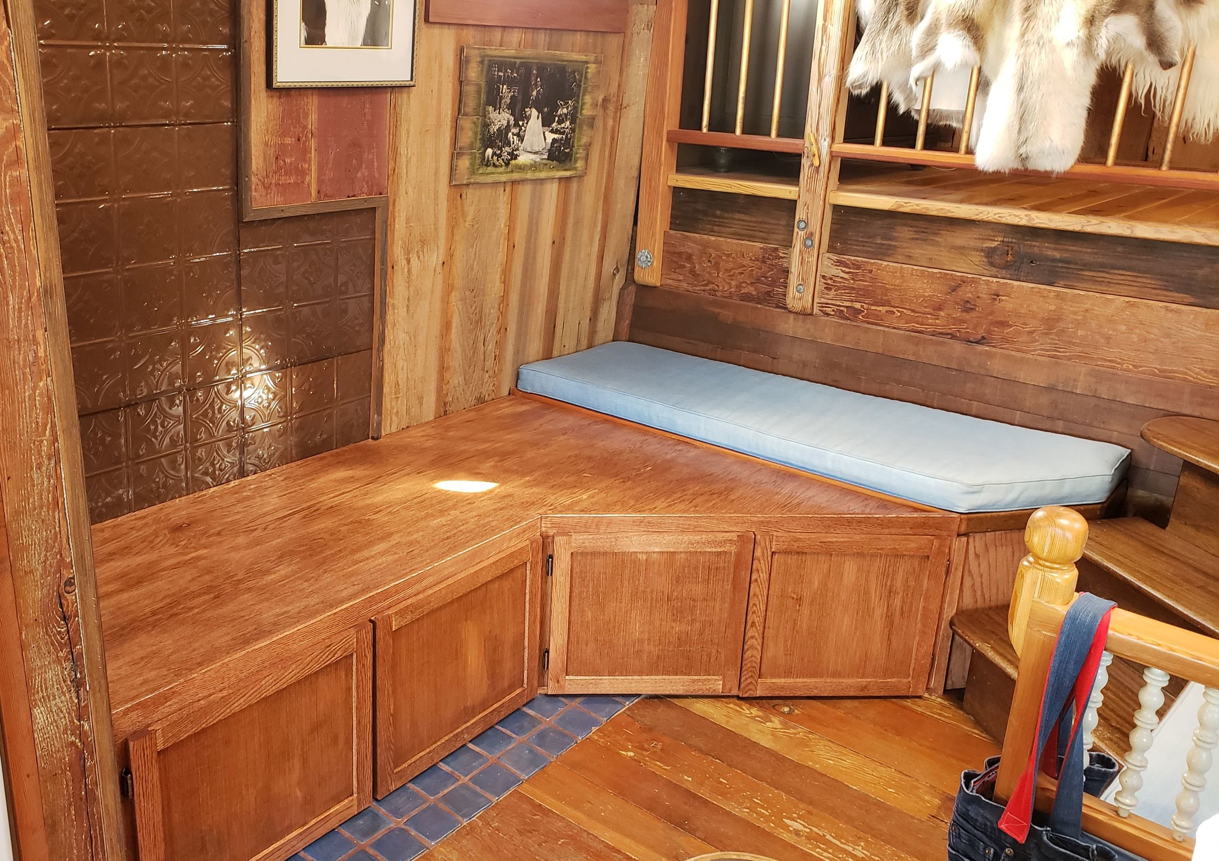 Houseboat Storage Bench