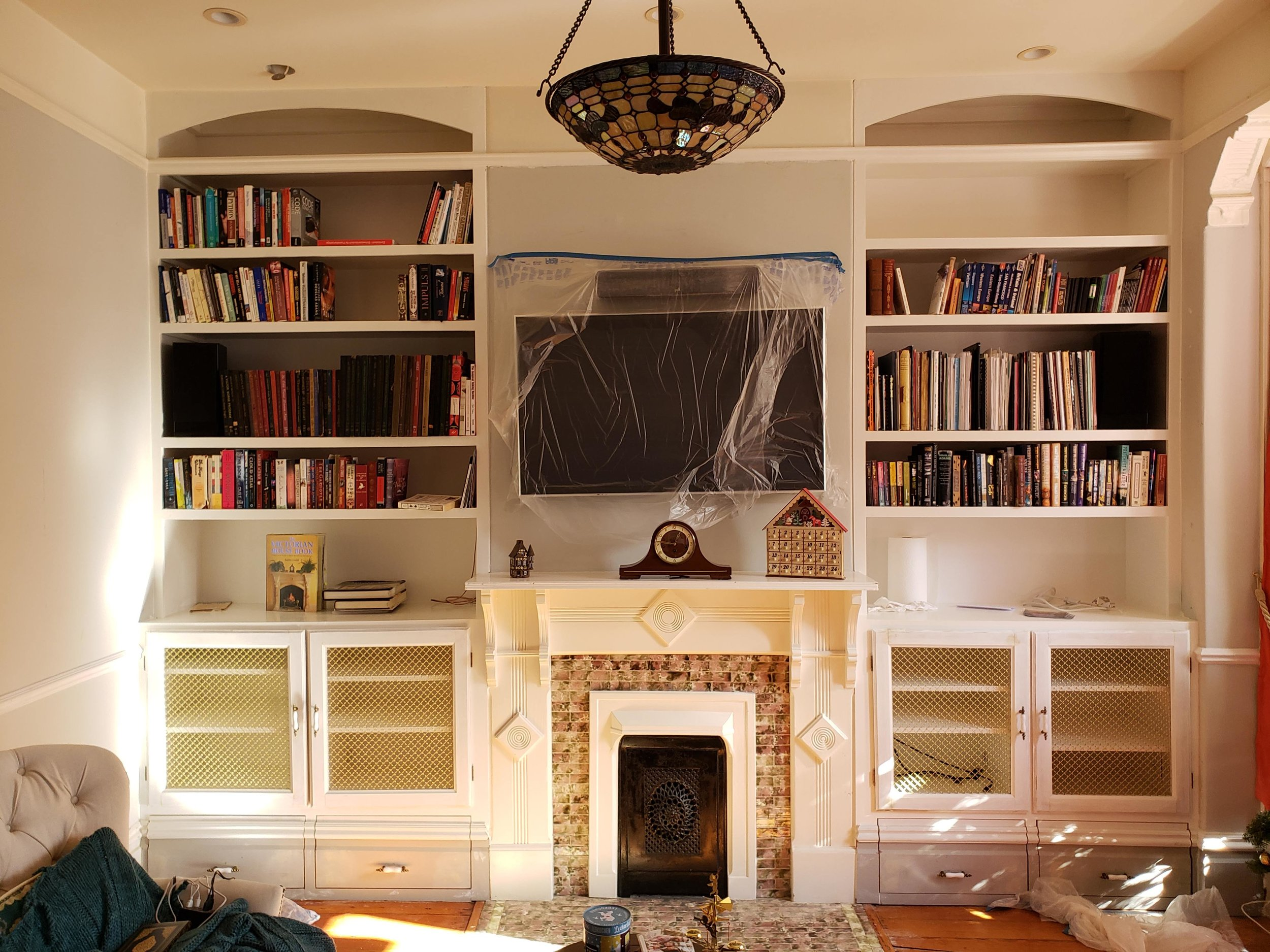 Victorian Built-in Bookshelves