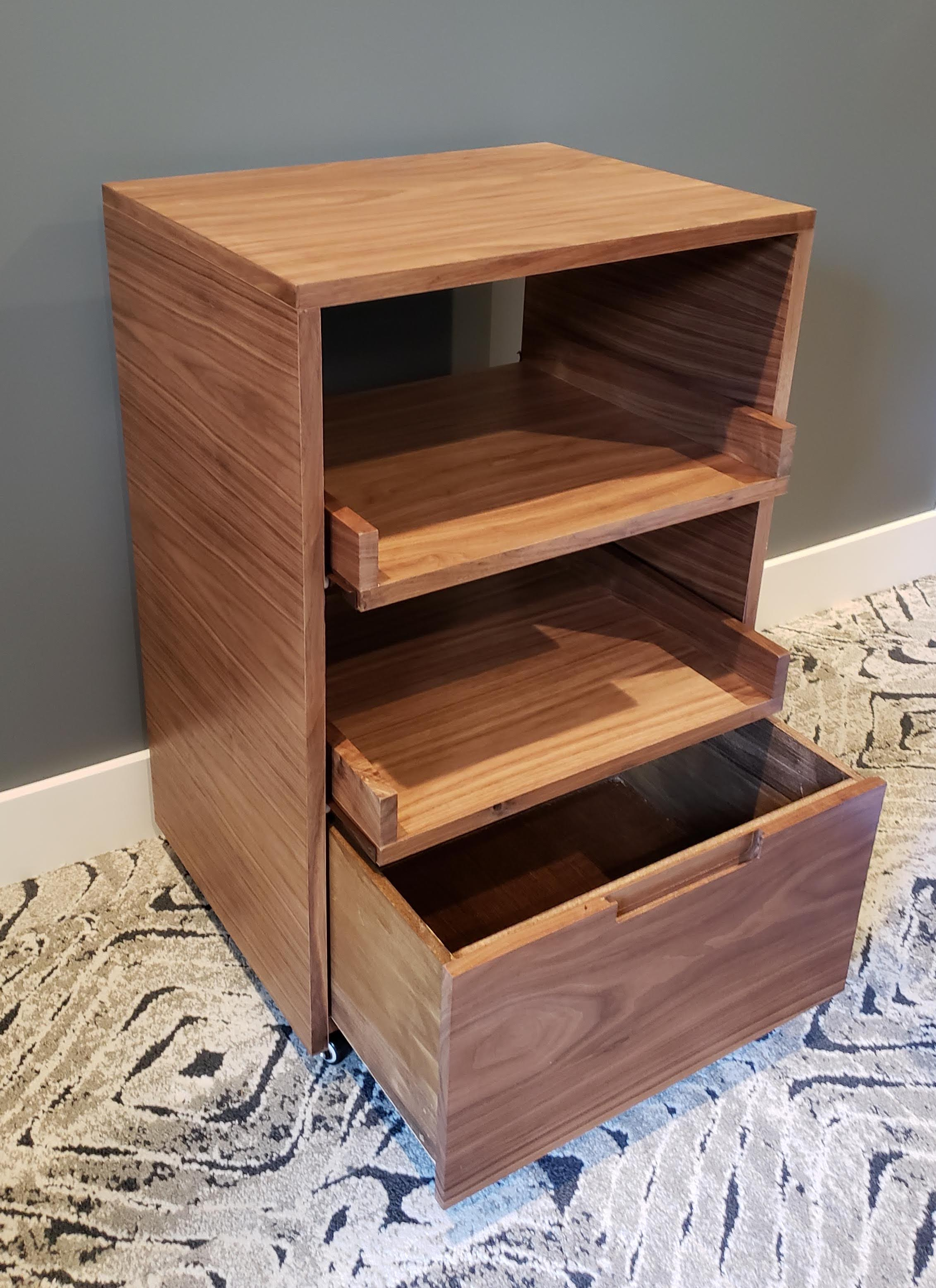 Walnut Printer Stand
