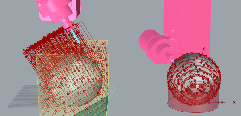 5xMonkey creates all the roughing and finishing toolpaths in one go