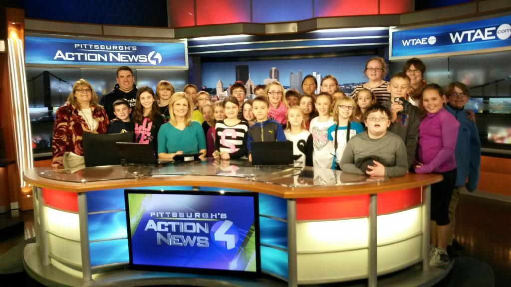 Broadford Elementary Gifted & Talented visit to Channel 4 Action News set