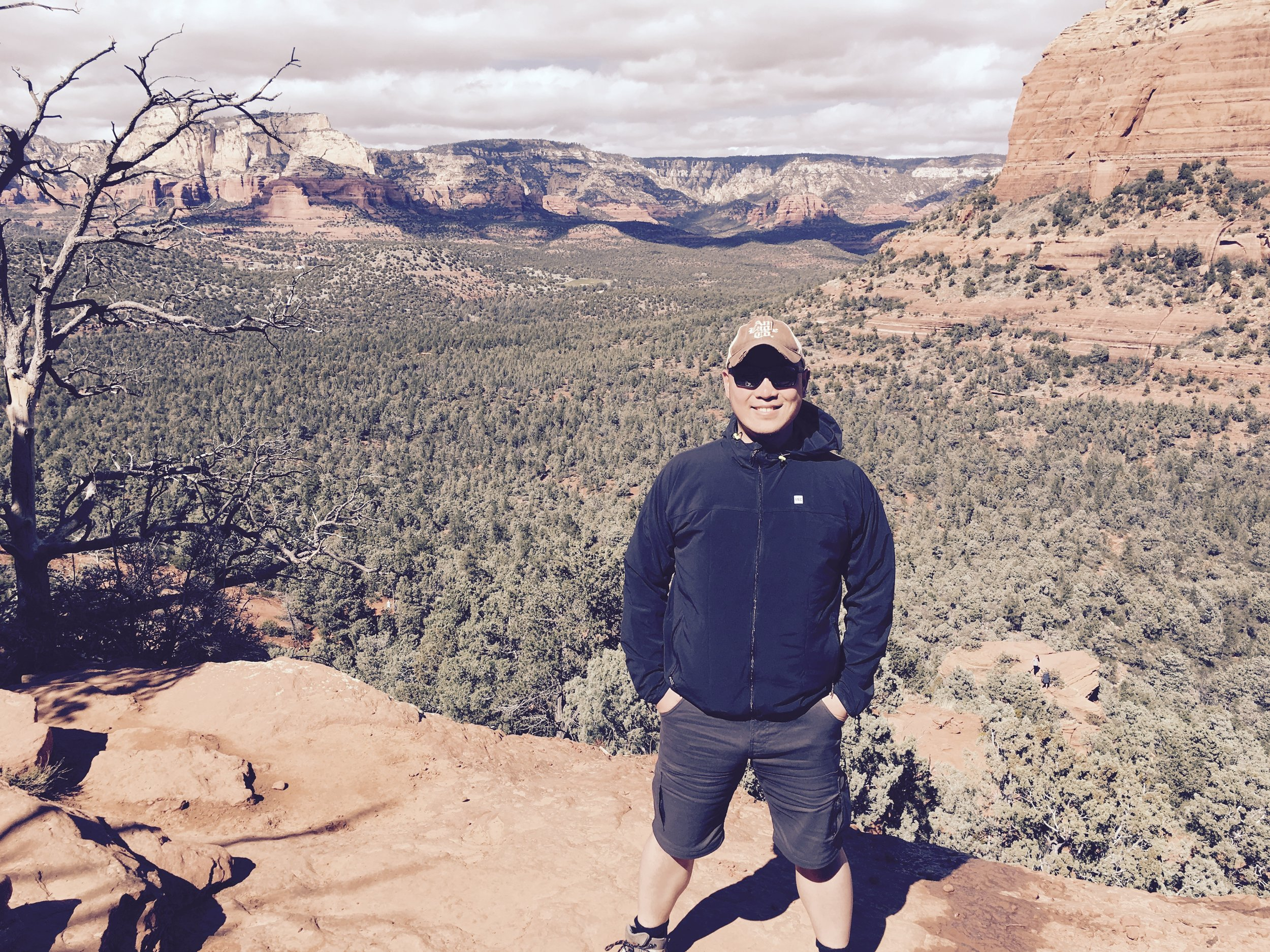 """In Sedona, Arizona in February 2017. Alex is continually drawn by the power of this rich, red oasis. Muladara, the """"root"""" chakra (or """"energetic power center"""")abounds in this deeply spiritual place."""