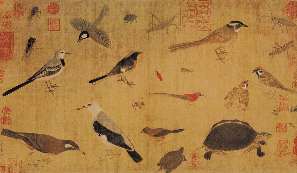 Obra del artista Huang Quan (903-965).