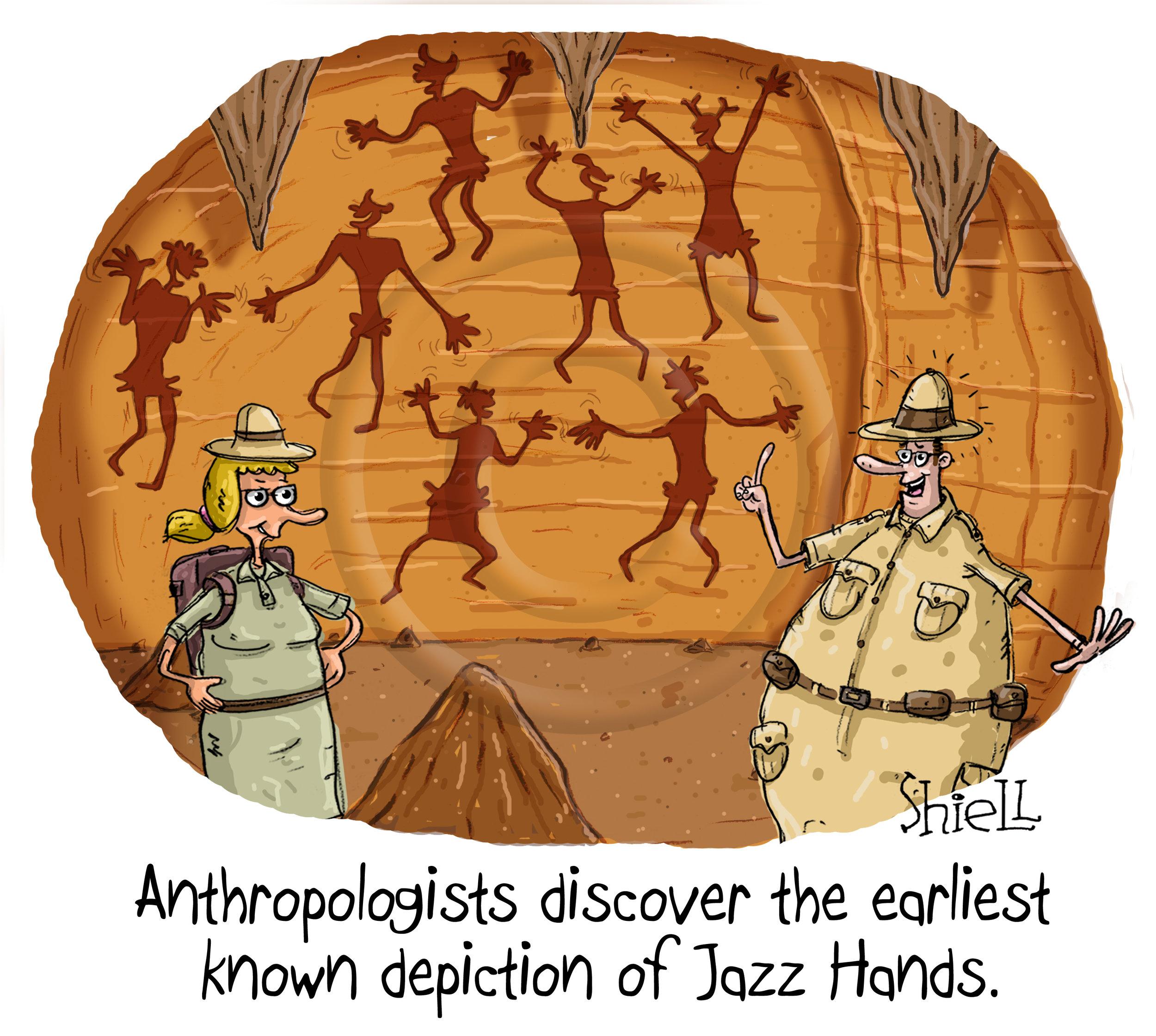 Cave Man Jazz Hands.