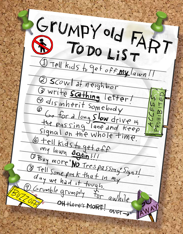 Grumpy Old Fart To-Do List.