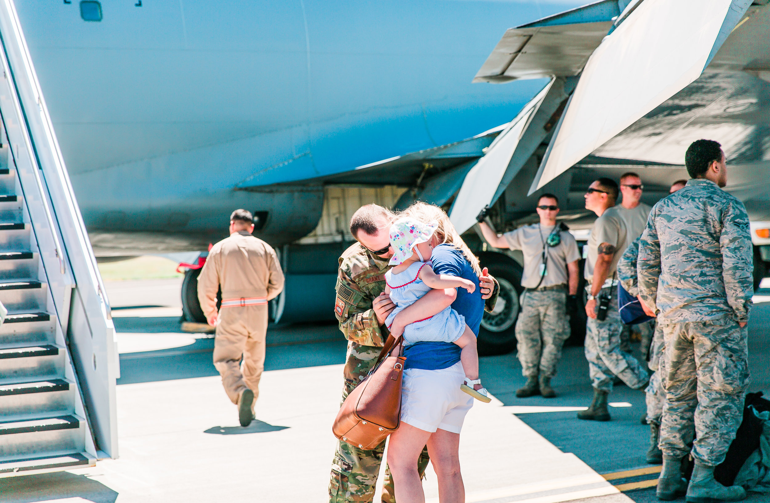 Reunited military family
