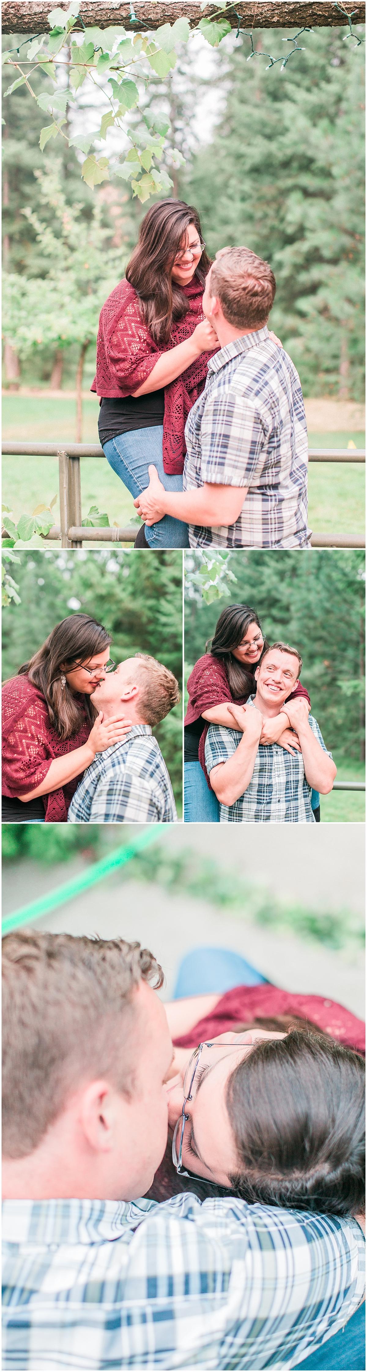 Backyard engagement photos