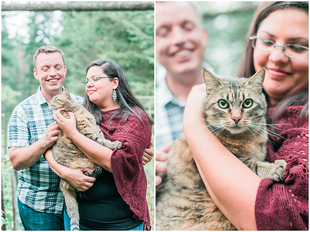 pets in engagement photos