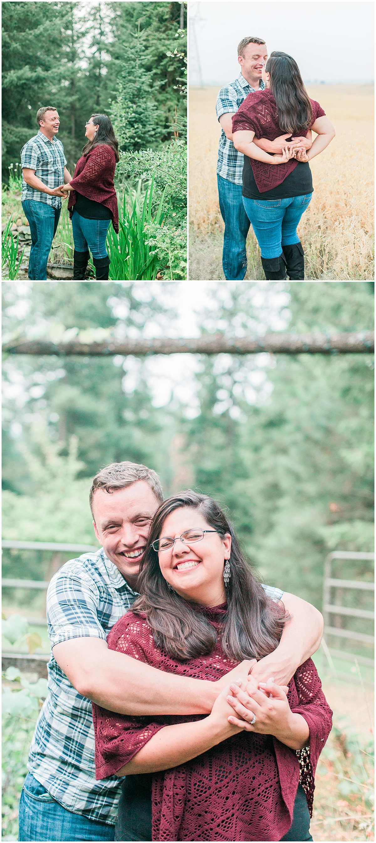 engagement photo couple poses