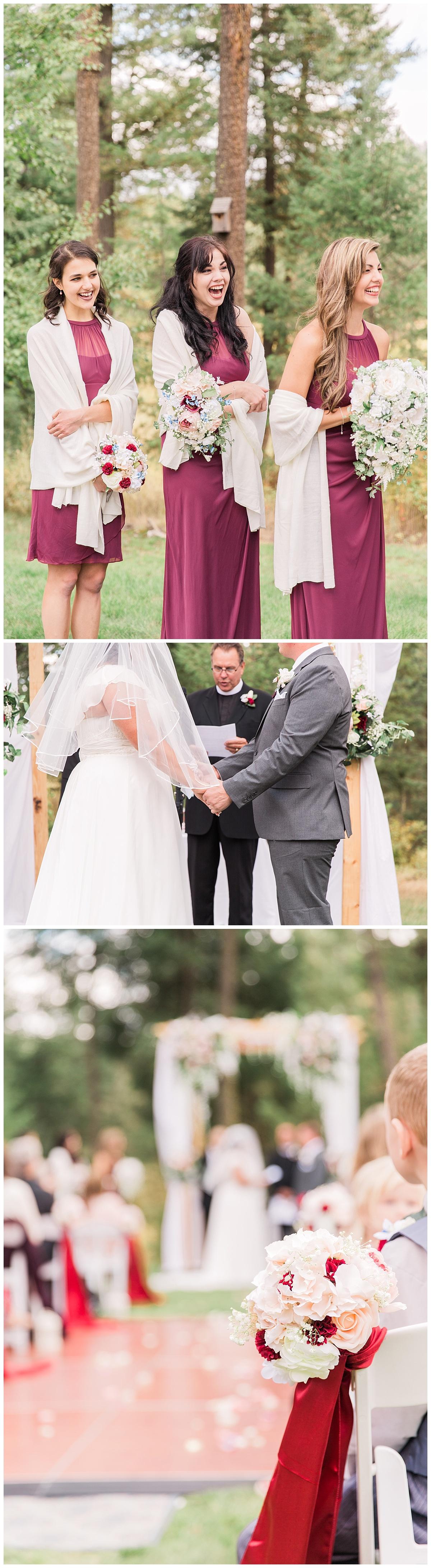 maroon wedding details