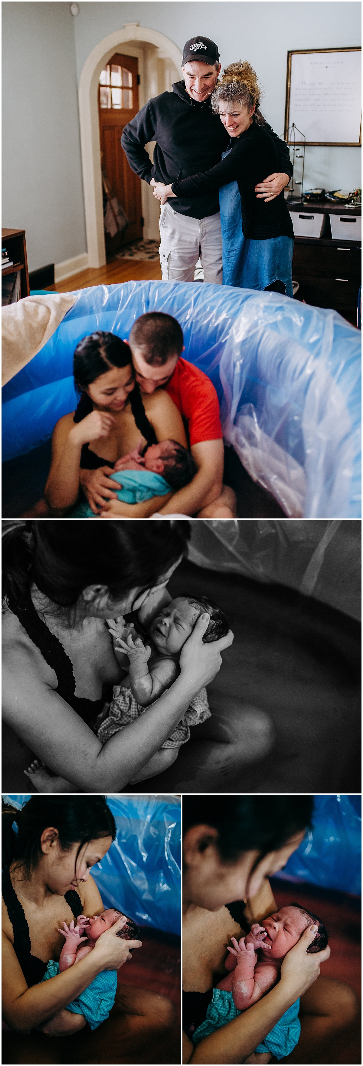 In-home birth photography