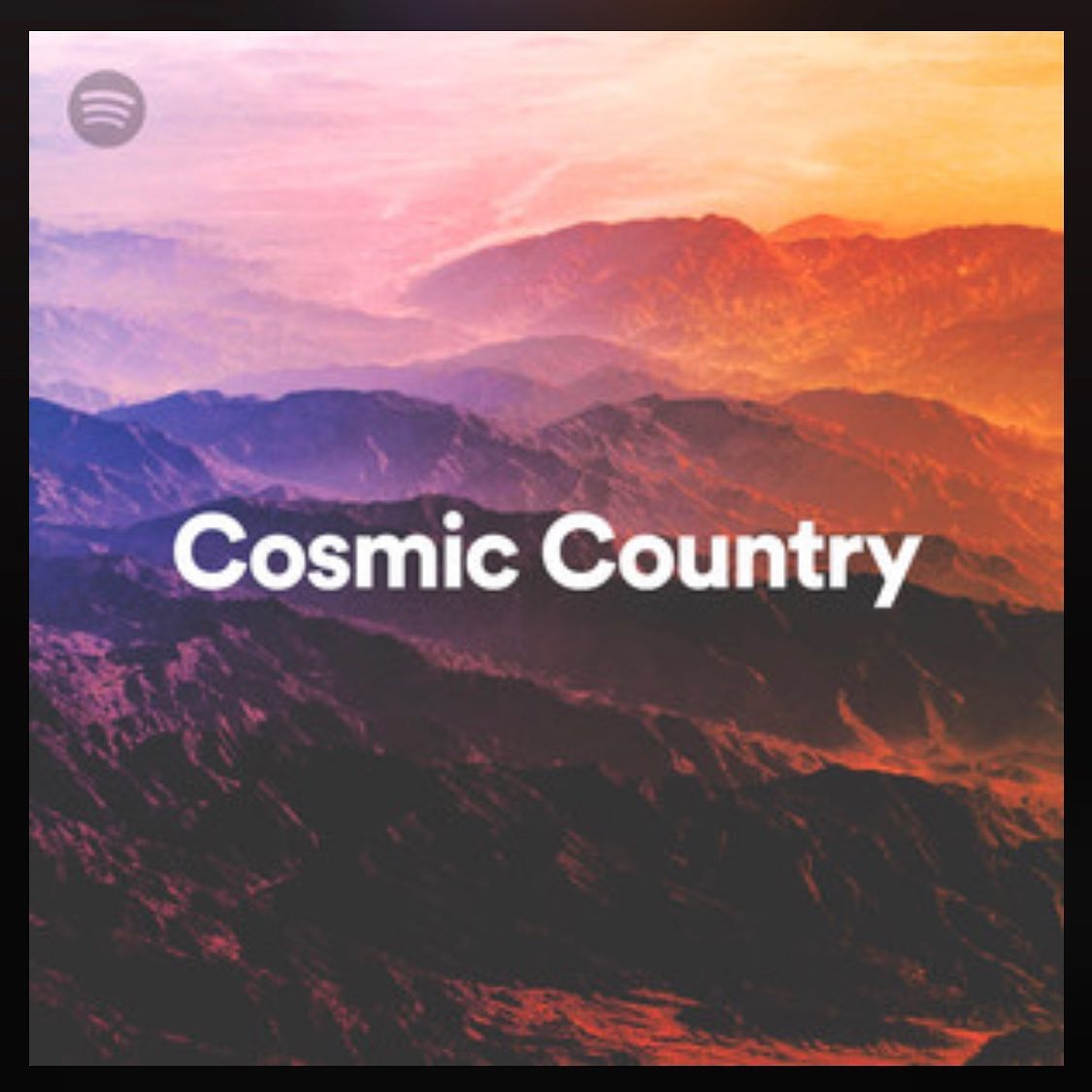 """Jenna's original song """"Angels Among Us"""" was featured on a Spotify curated playlist called """"Cosmic Country""""! Click the picture and follow the playlist featuring Tyler Childers, Nikki Lane, Townes Van Zandt, Gram Parsons, and many more.."""