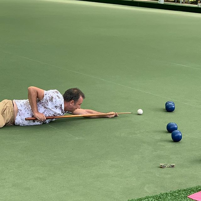 Finally its was tie for our staff Christmas party. Let's take lawn bowls to a new level #staffparty #restaurantteam