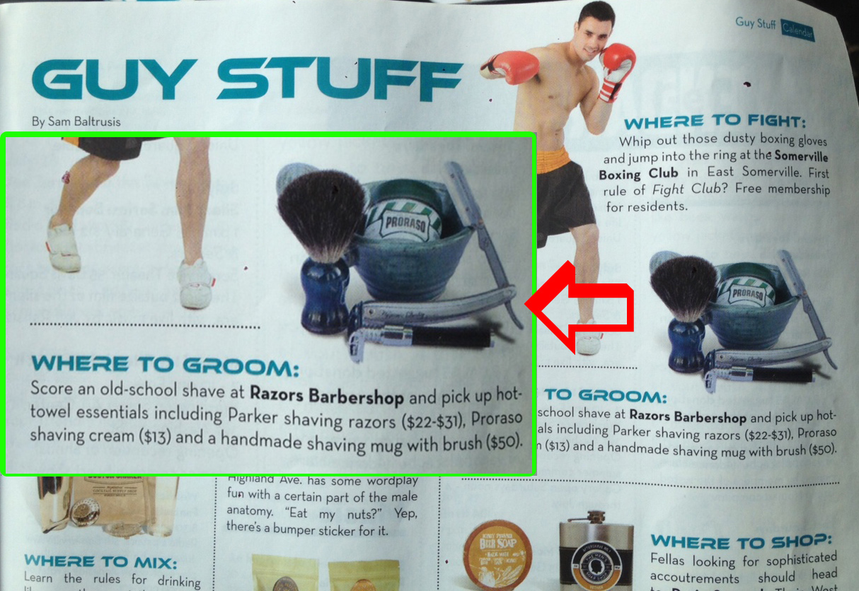 """Featured in the """"Guy Stuff"""" edition of Scout Somerville Magazine"""