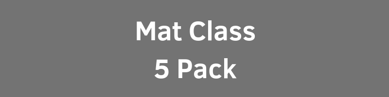 $90.00 - $18.00 per ClassIntimate Class Size (Max 10 per Class)Includes All Mat Based Fitness Classes1 Year Expiration