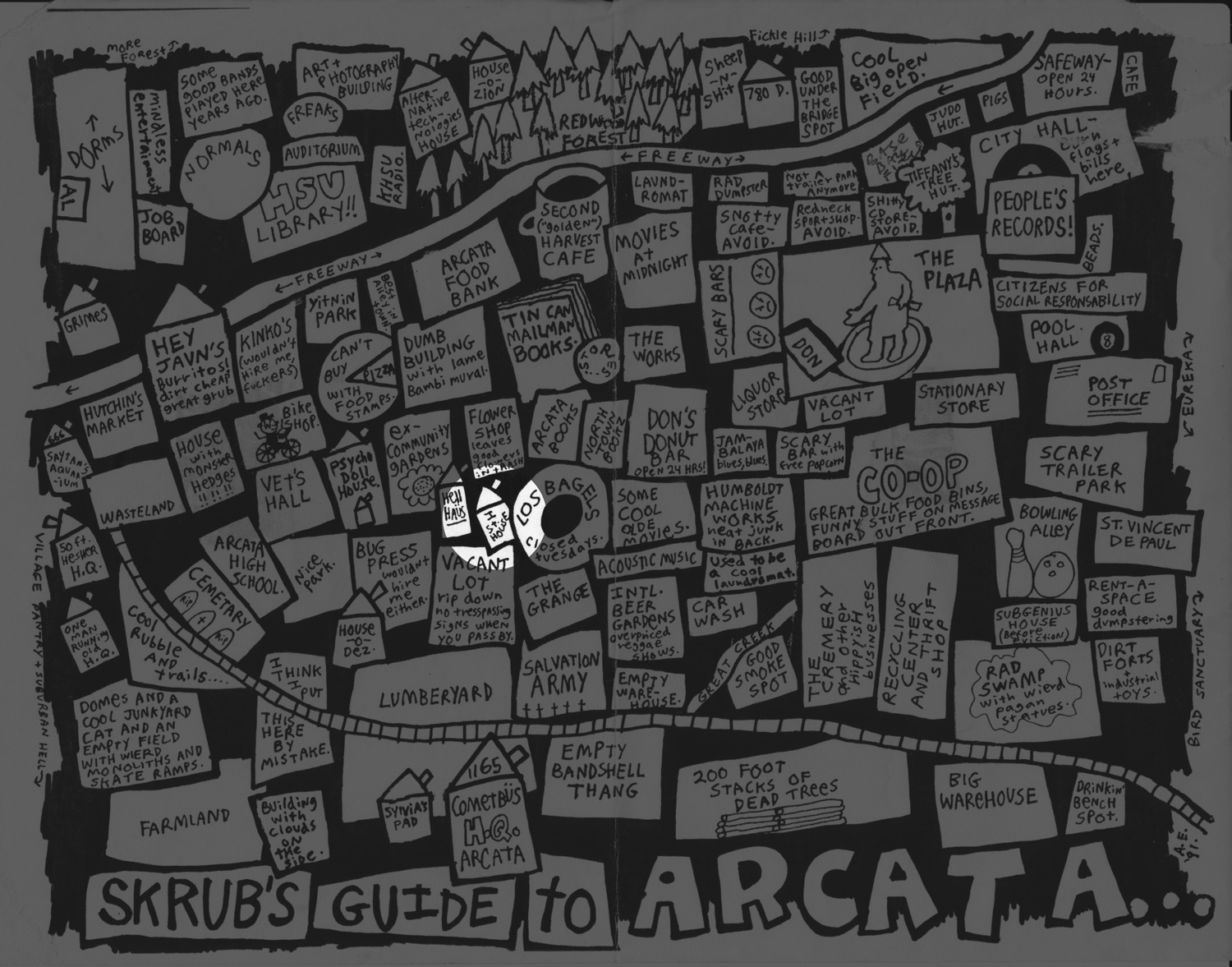 Aaron Elliott's map of arcata