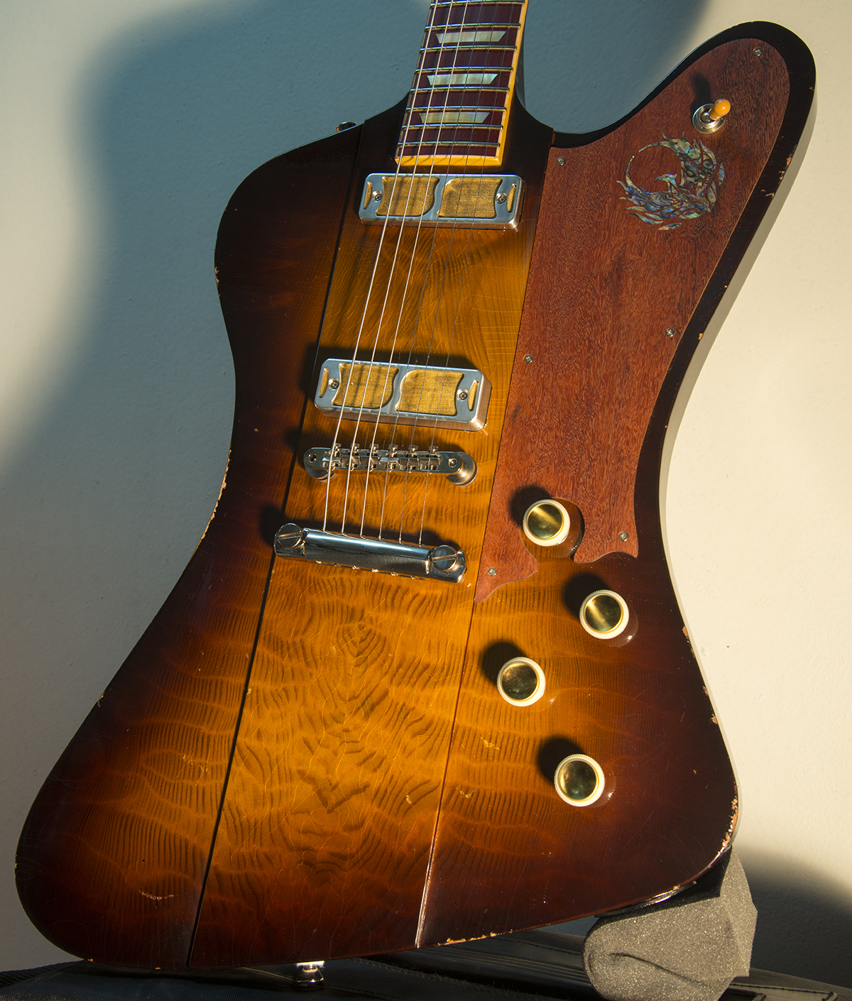 Ronin Phoenix with a 5A Flamed Redwood Top.