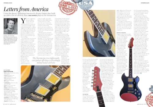 Guitar and Bass uk Magazine review of the Ronin Stormcrow by David Hunter