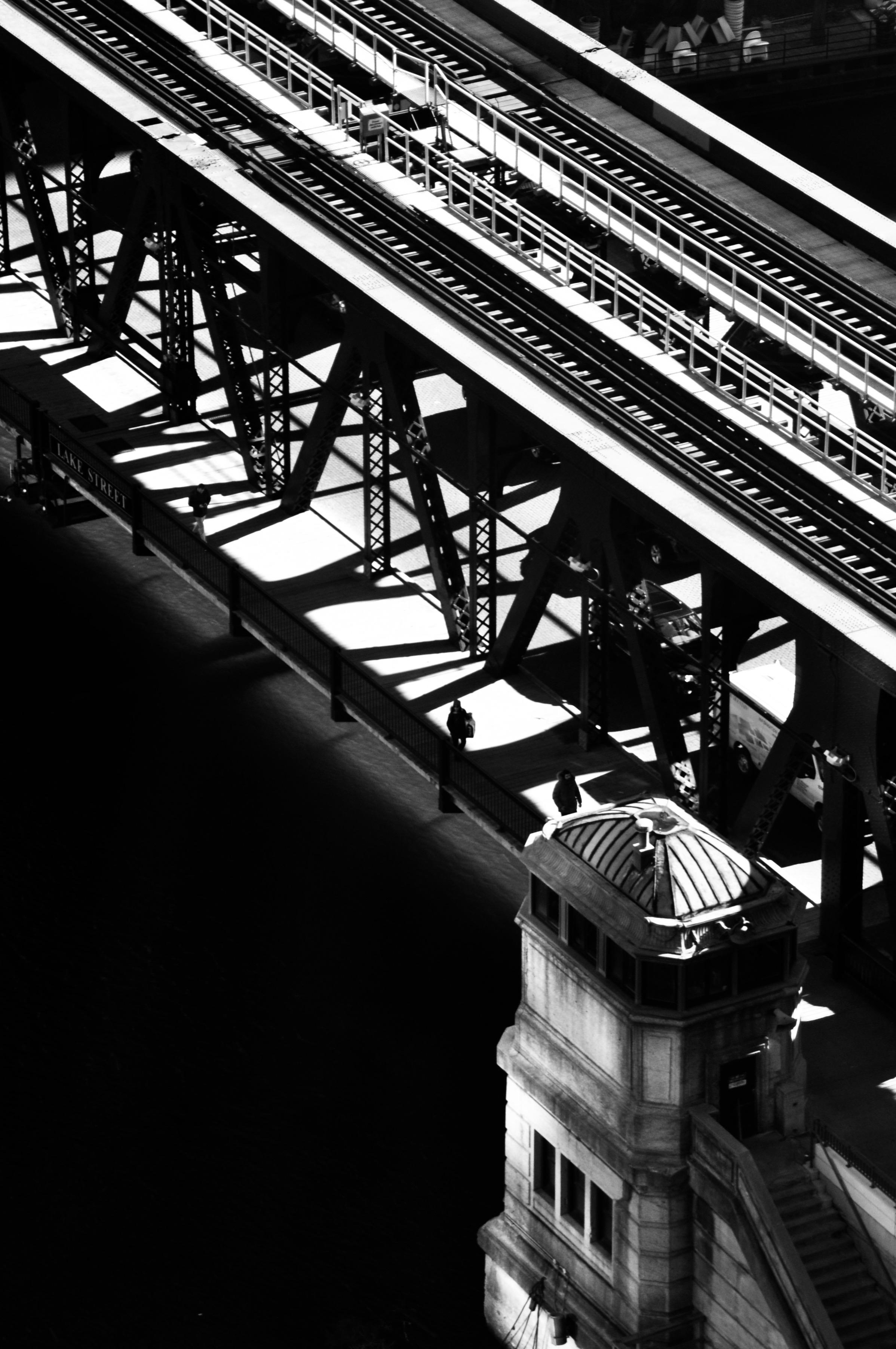 Chicago EL Waiting on a Train