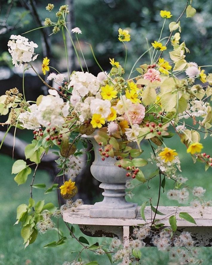 Alice Beasley flowers garden workshops rose and hydrangea urn