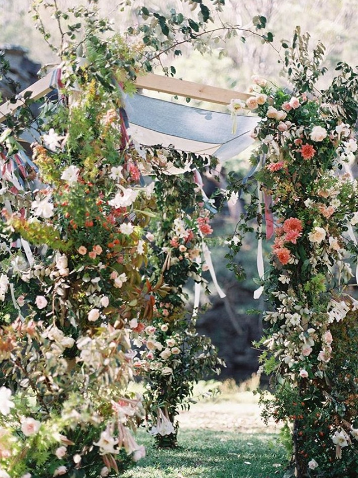 Alice beasley flowers autumn wedding chuppah