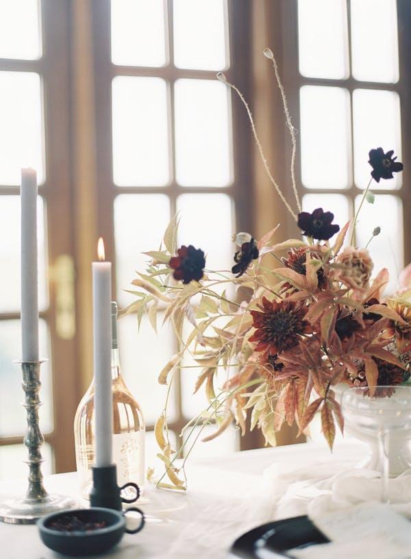 Alice Beasley Flowers autumn wedding tablescape