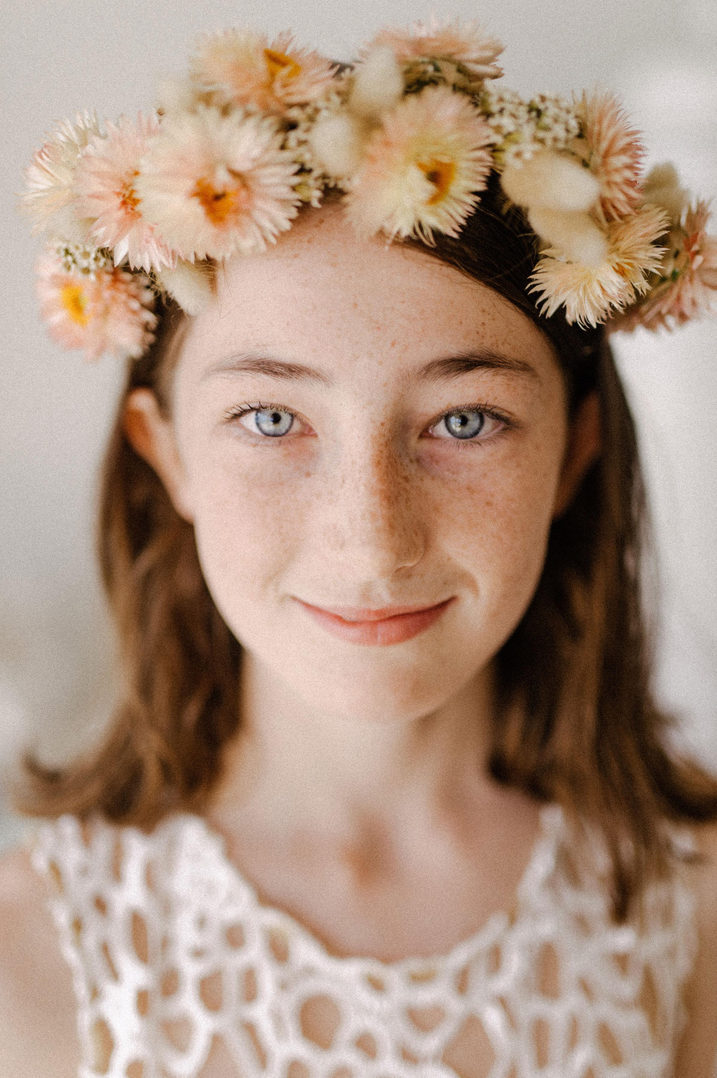 everlasting bridal flower crown
