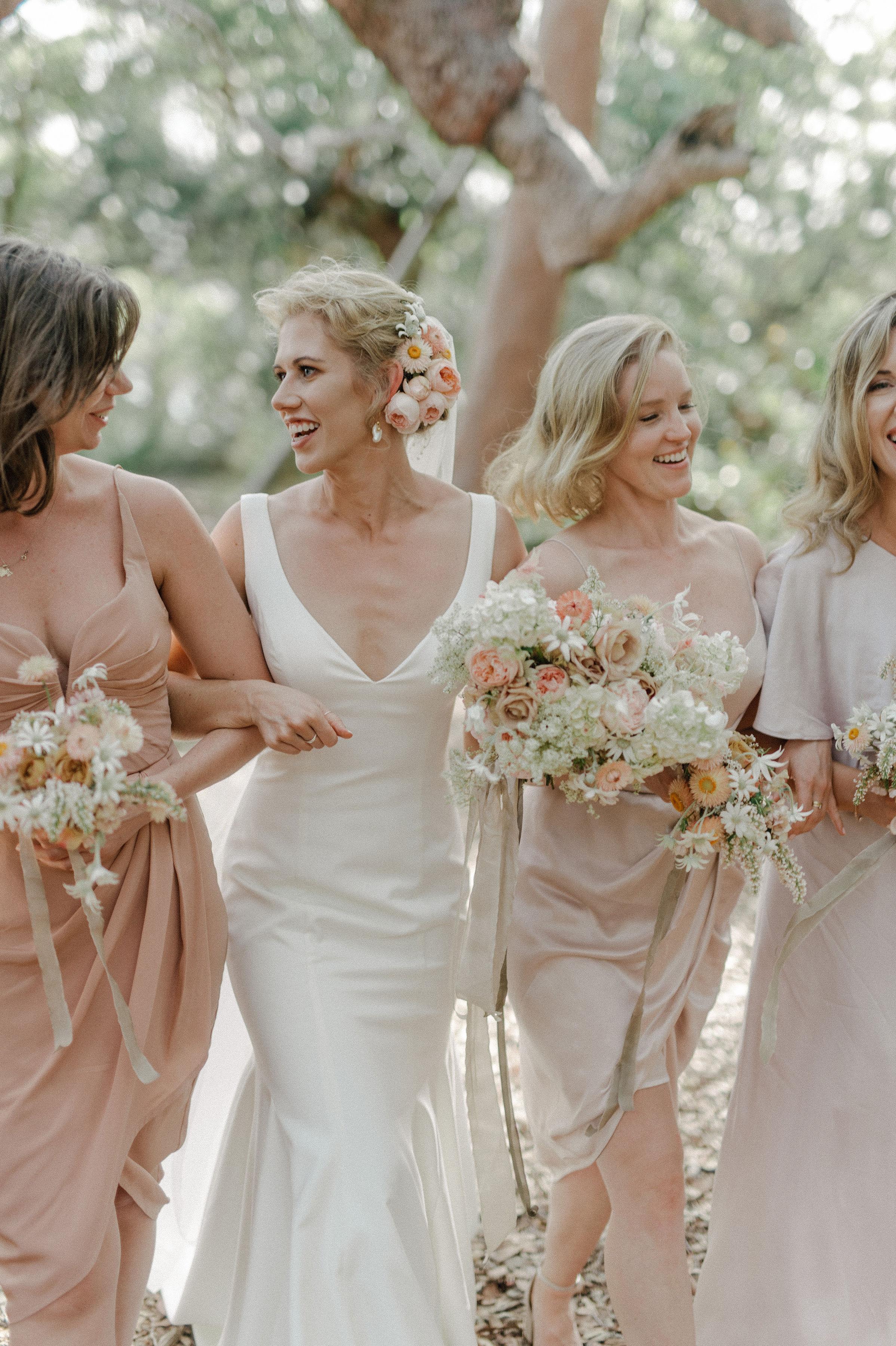 Australian, romantic, beach wedding flowers