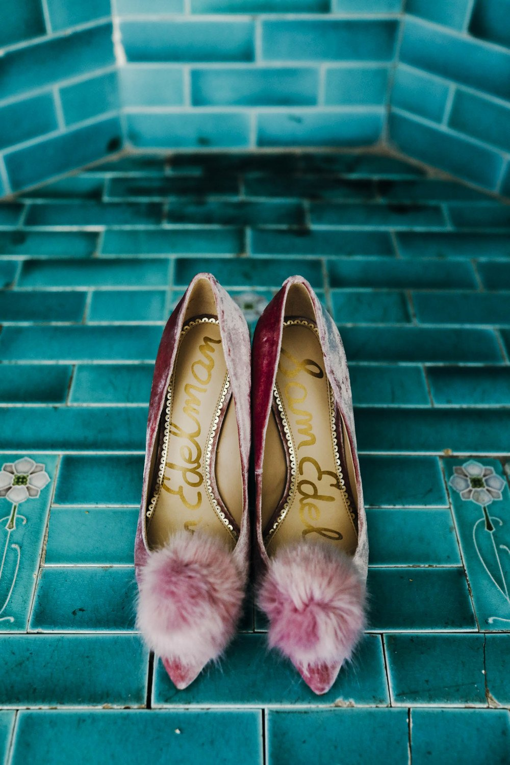 vintage velvet wedding shoes