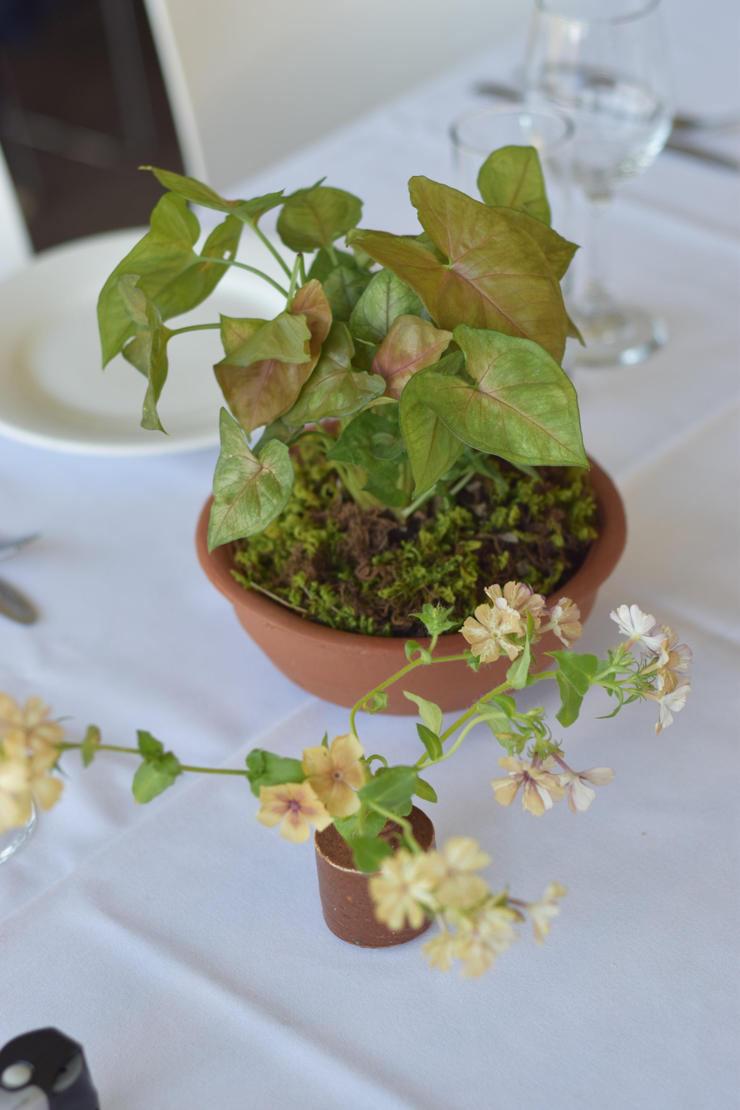 modern wedding flower table arrangements