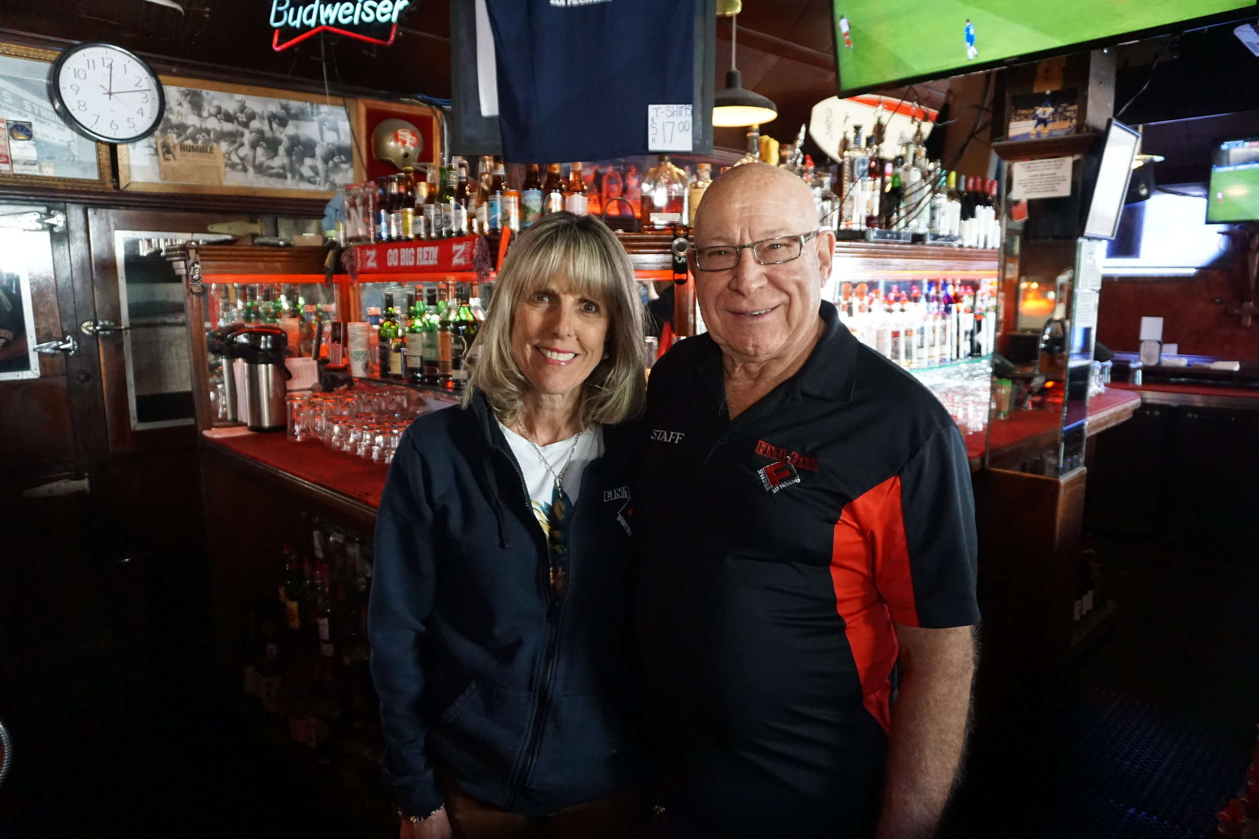 Arnold & LInda Prien - Hello my name is Arnold Prien and this is my wife Linda. I've been the owner and operator of The Final Final since 1978. I've walked around this bar more times than I can count. Come by, have a beverage, and ask me about its rich history. Cheers!