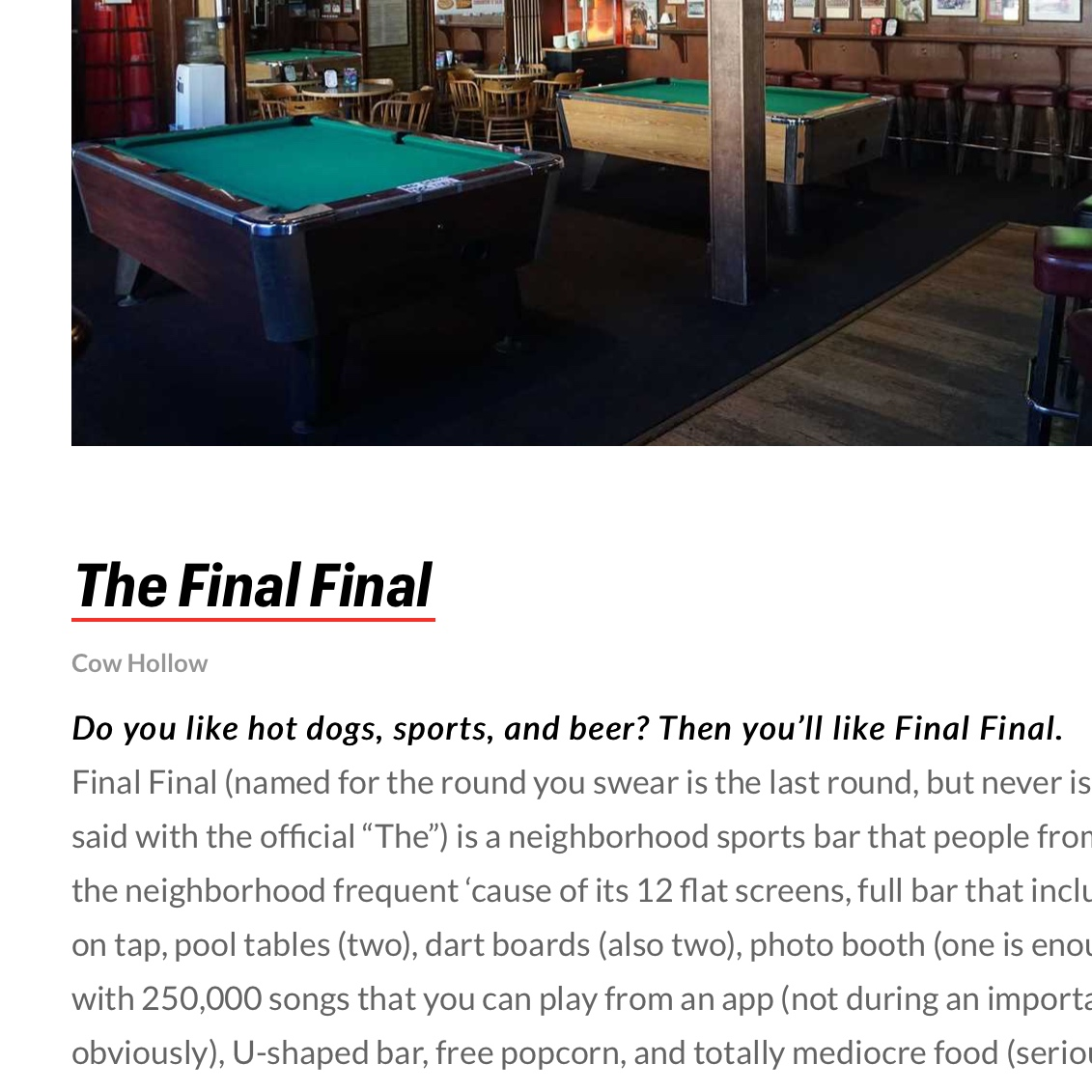 The Best Sports Bars in San Francisco - via Thrillist