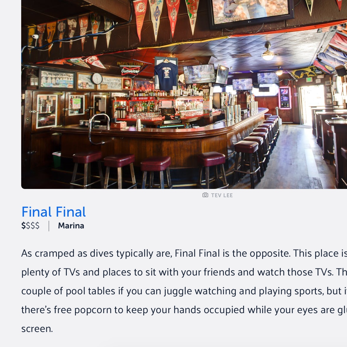 The Best Bars To Watch Sports In San Francisco - via The Infatuation