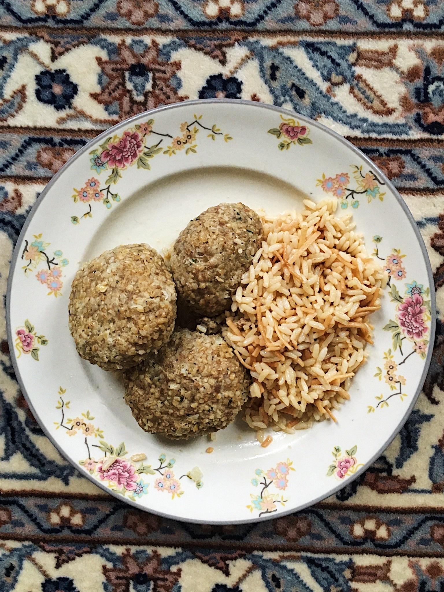 Rice Pilaf & Kufta