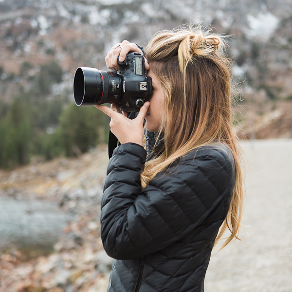 Here's a photo of me with my go to 50mm 1.2 lens in Yosemite. I probably have this lens on 90% of the time. Photo by Tiffany Gentry.