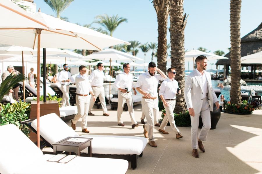 Groomsmen at Cabo Azul resort