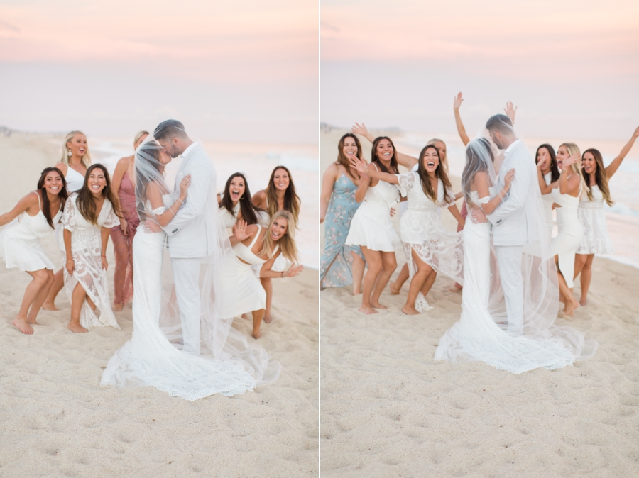 silly wedding party photo