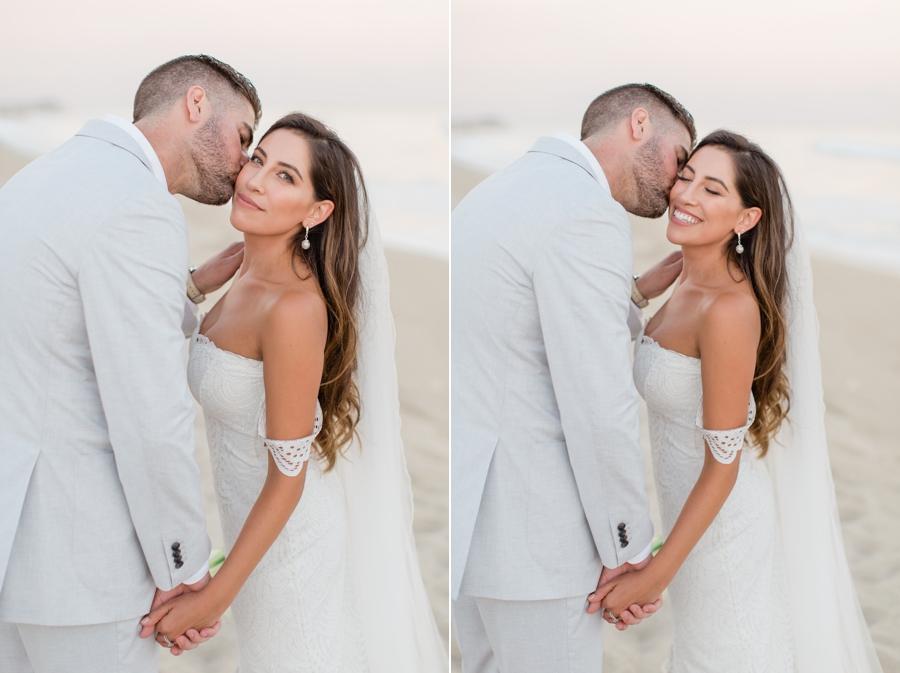 Beach bride in Grace Loves Lace