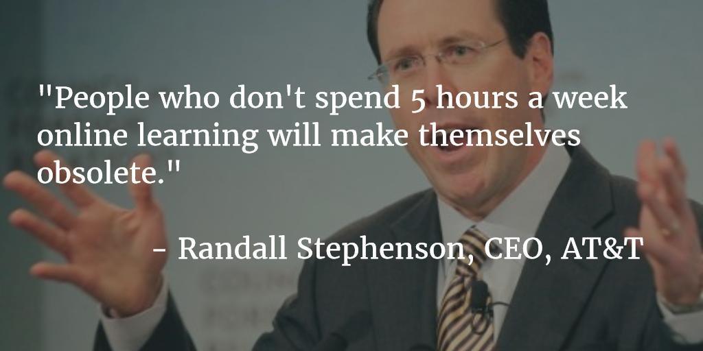 Onödigt provocerande citat, men om det inspirerar någon att ta sig lite tid för att lära sig något nytt kan det fylla sitt syfte.