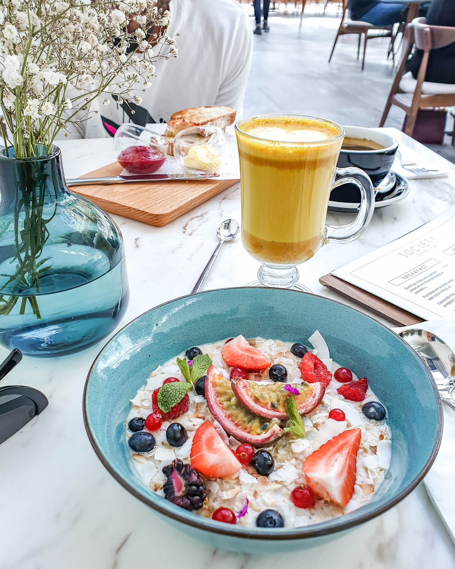 Coconut bircher from Society Cafe and Lounge | Dubai UAE