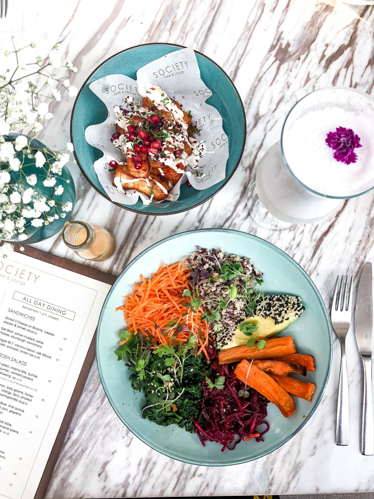 Food Flatlay at Society Cafe and Lounge | Dubai UAE