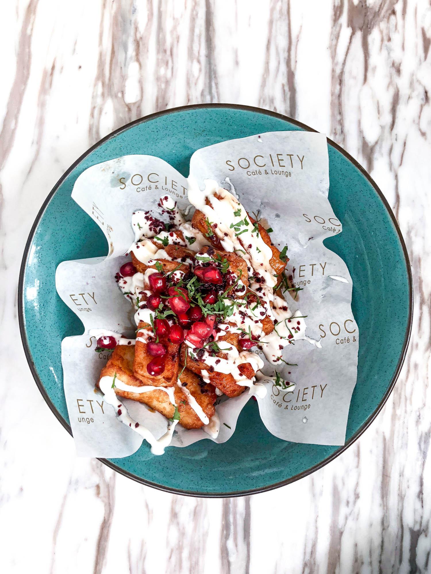 Halloumi fries at Society Cafe and Lounge | Dubai UAE