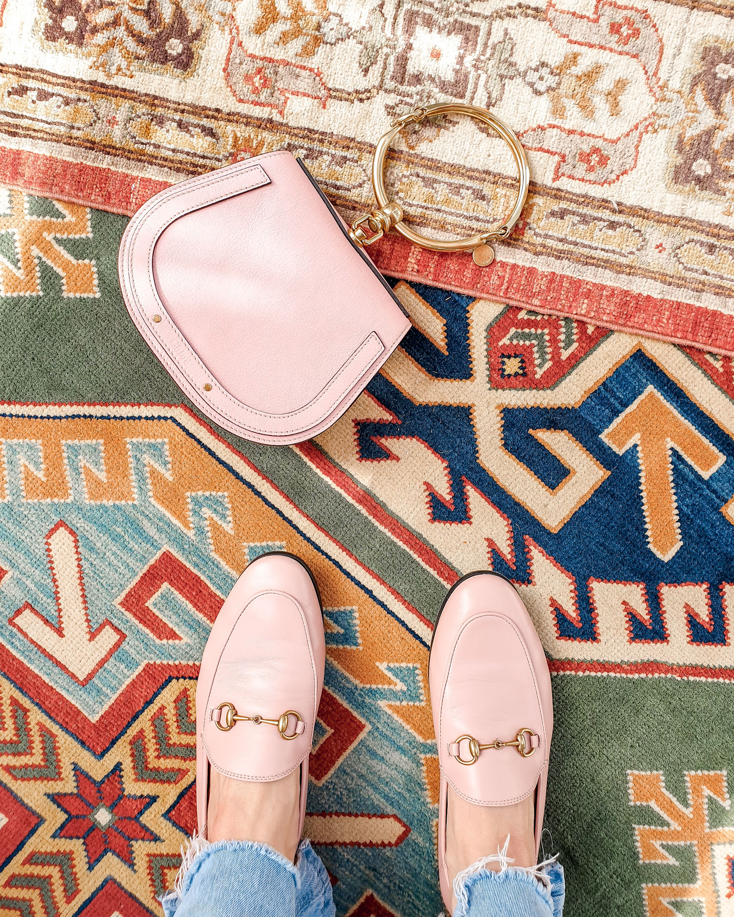 Accessories | Pink Chloe Nile and pink Gucci Loafers