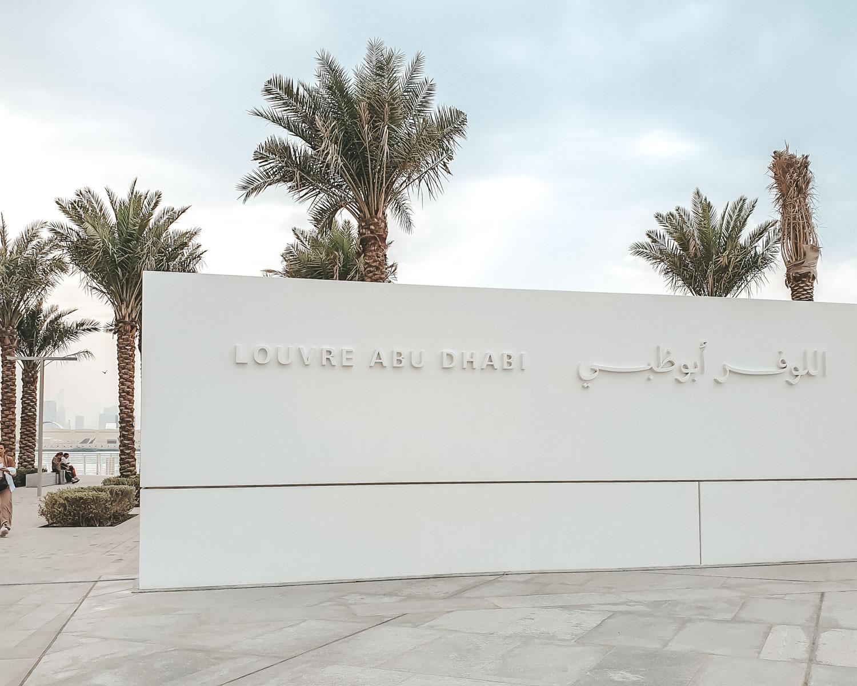 Louvre Abu Dhabi sign